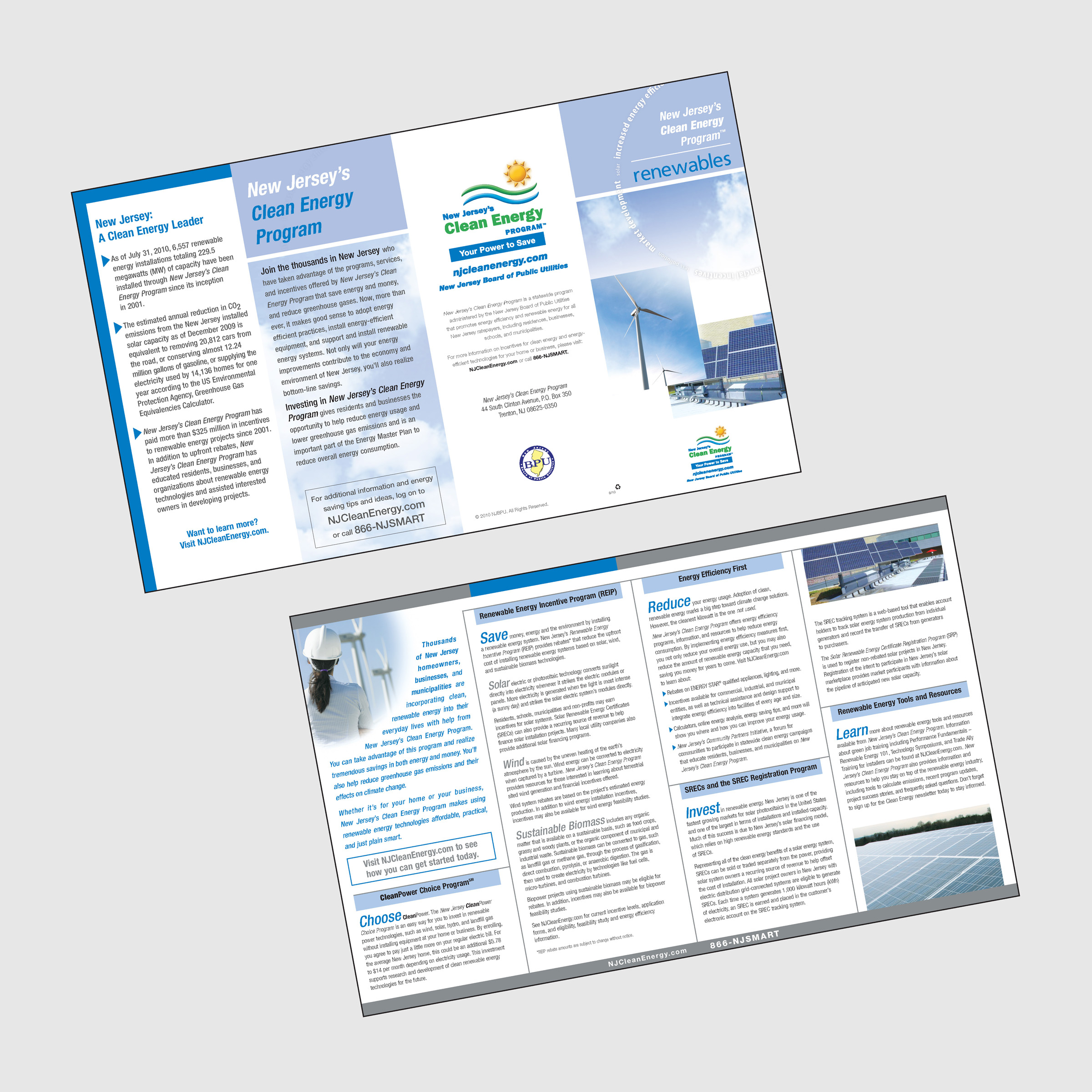 New Jersey's Clean Energy Program Renewables Brochure - portfolio image