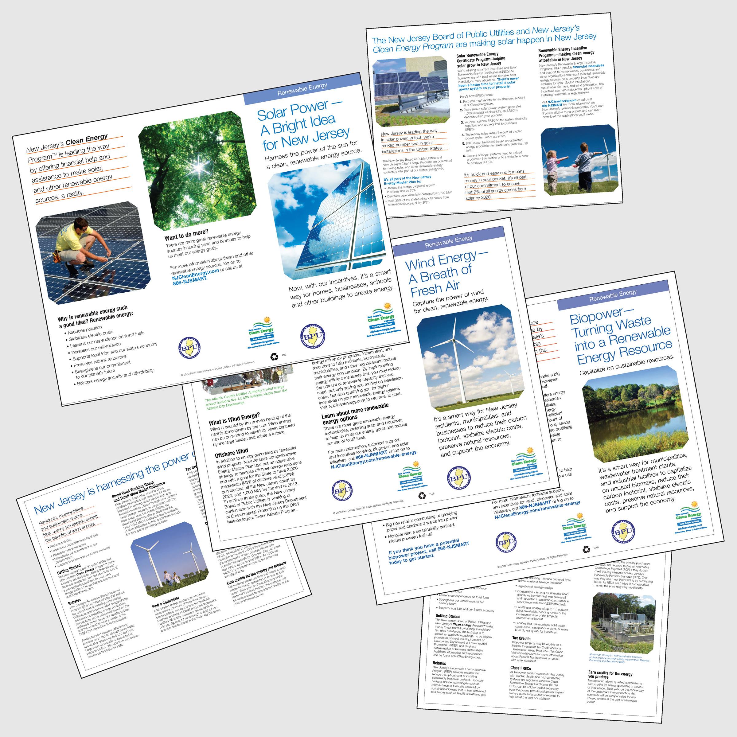 New Jersey's Clean Energy Program Renewables Brochures - portfolio image