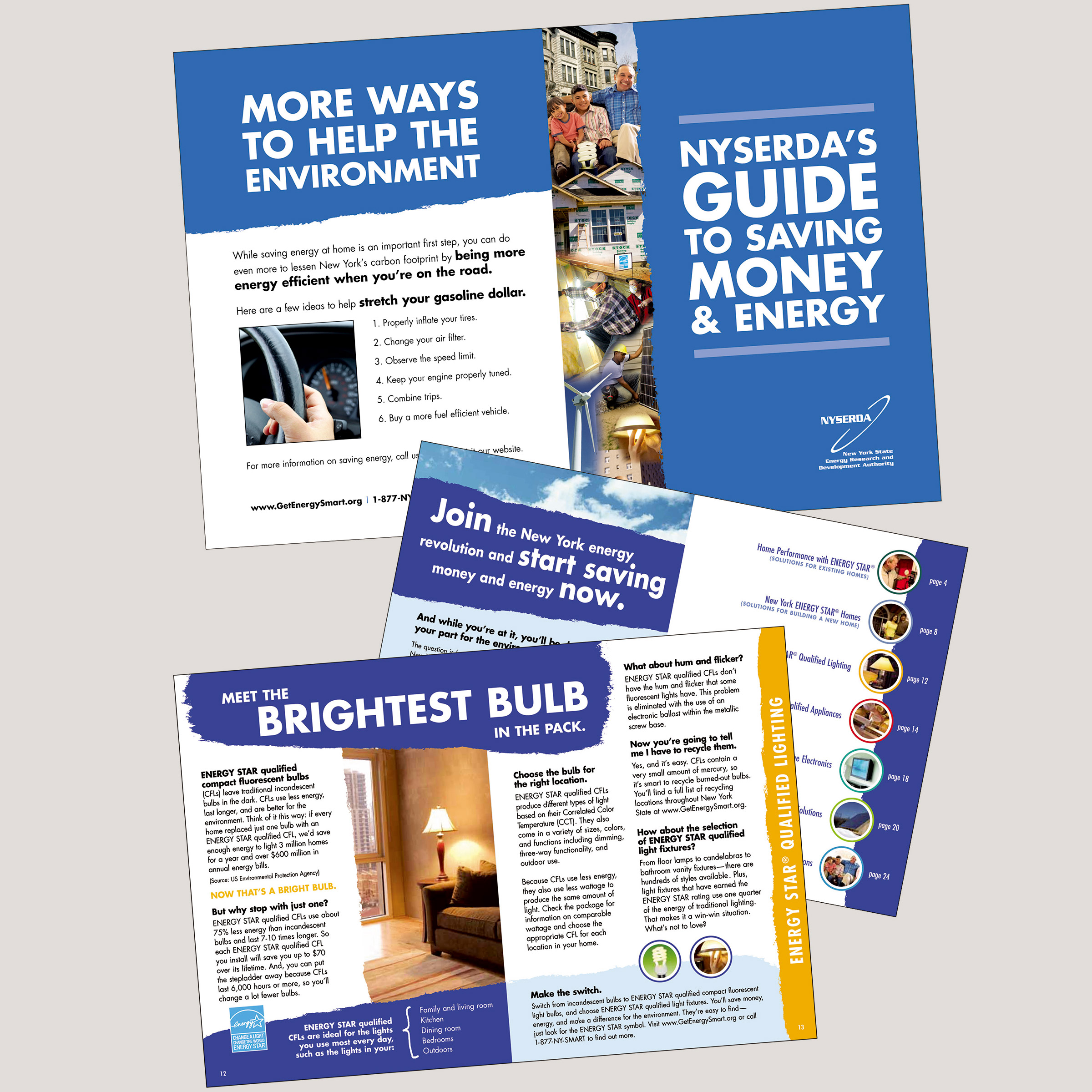 NYSERDA - Guide to Saving Money & Energy brochure - portfolio image