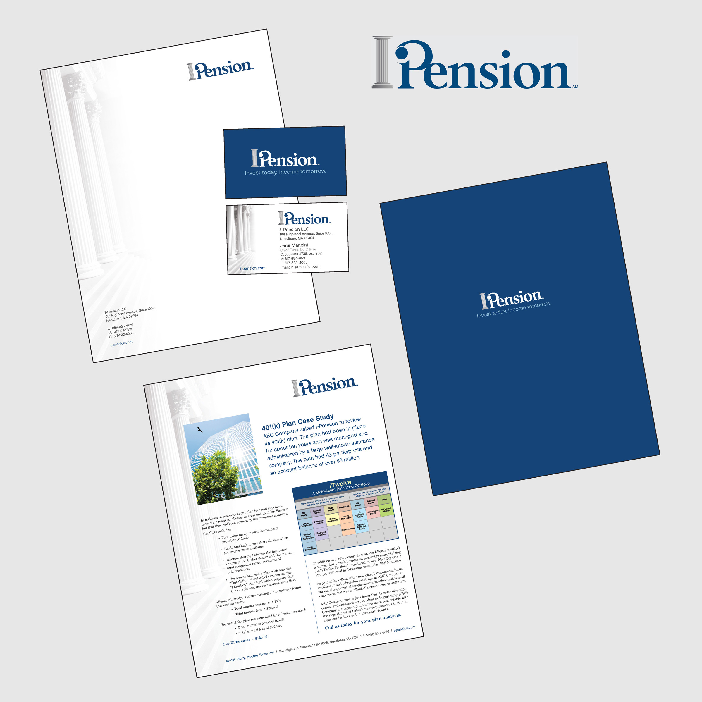 i-Pension stationery - portfolio image